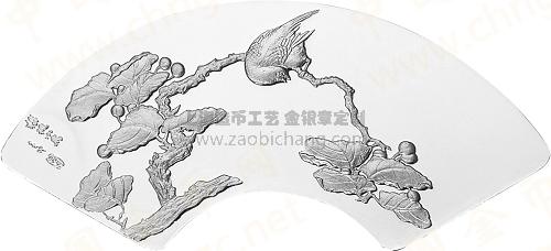 樱桃树笔墨刚劲古朴,小鸟又以拟人化的表现手法,画面给人以欢快又不失